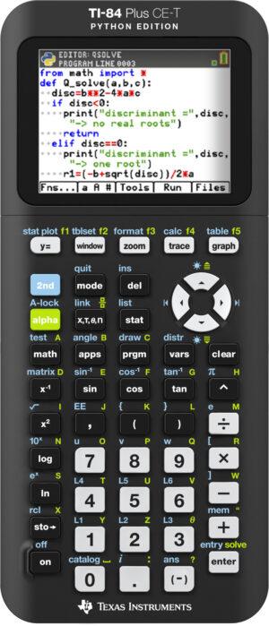 TI-84 Plus CE-T Python Edition grafische rekenmachine