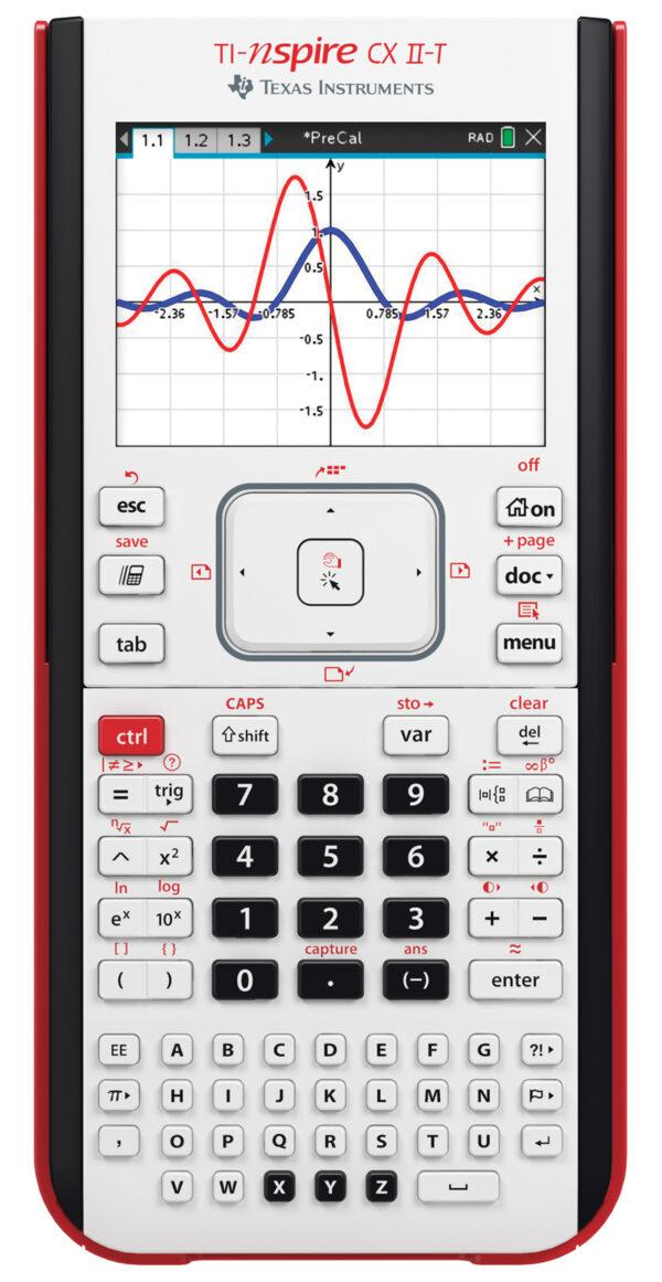 TI-Nspire CX II-T grafische rekenmachine met examenfunctie